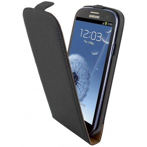 Mobiparts Premium Flip Case Black Samsung Galaxy S3 (Neo)