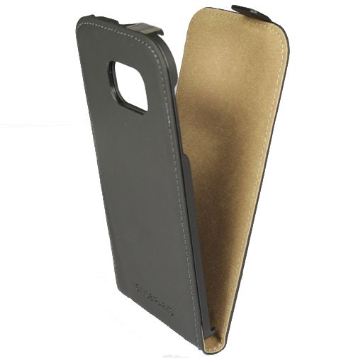 Mobiparts Premium Flip Case Black Samsung Galaxy S6 Edge