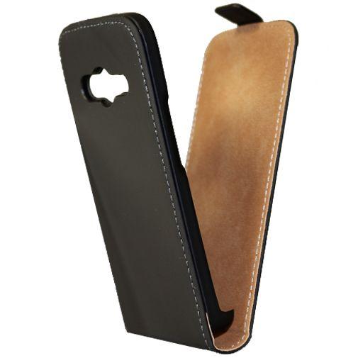 Mobiparts Premium Flip Case Black Samsung Galaxy Trend 2