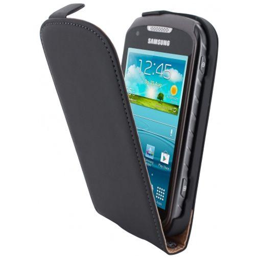 Mobiparts Premium Flip Case Black Samsung Galaxy Xcover 2