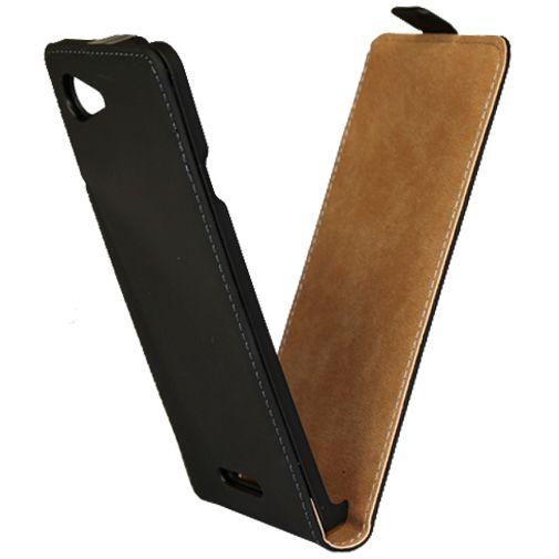 Mobiparts Premium Flip Case Black Sony Xperia E3