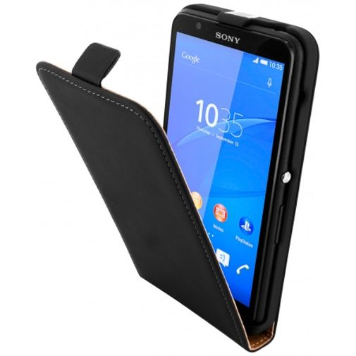 Mobiparts Premium Flip Case Black Sony Xperia E4