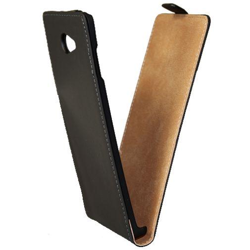 Mobiparts Premium Flip Case Black Sony Xperia M2 Aqua