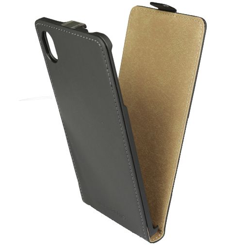 Mobiparts Premium Flip Case Black Sony Xperia M4 Aqua