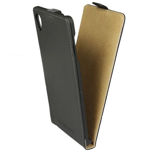 Mobiparts Premium Flip Case Black Sony Xperia Z3 Plus