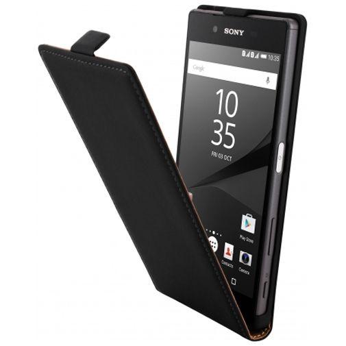 Mobiparts Premium Flip Case Black Sony Xperia Z5