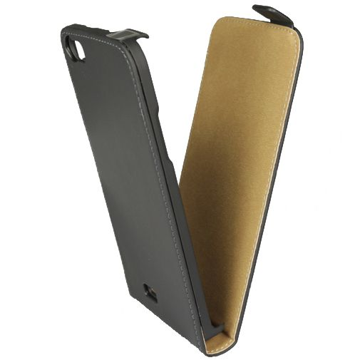 Mobiparts Premium Flip Case Black Wiko Lenny