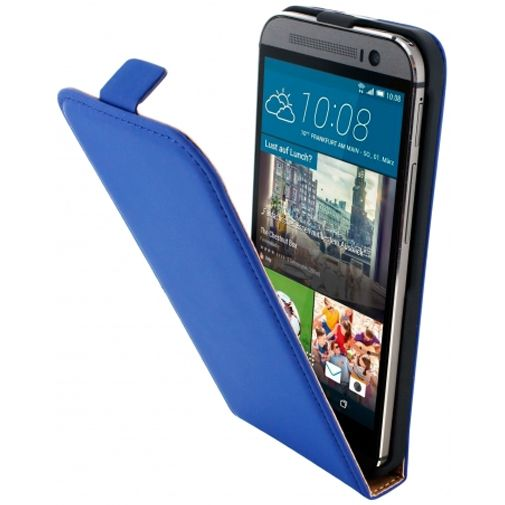 Mobiparts Premium Flip Case Blue HTC One M9 (Prime Camera Edition)