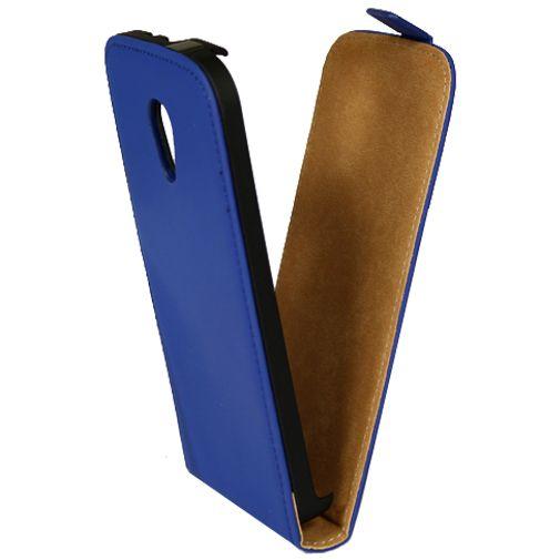 Mobiparts Premium Flip Case Blue Motorola New Moto G