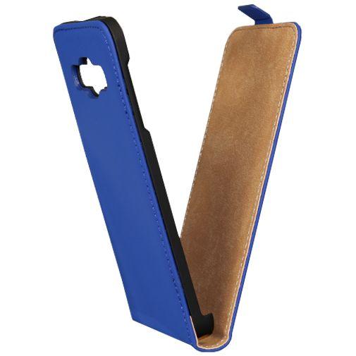 Mobiparts Premium Flip Case Blue Samsung Galaxy A3