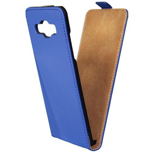 Mobiparts Premium Flip Case Blue Samsung Galaxy A5
