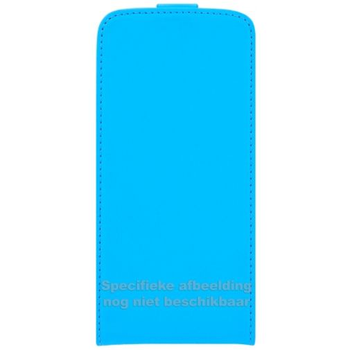 Mobiparts Premium Flip Case Light Blue Samsung Galaxy J1
