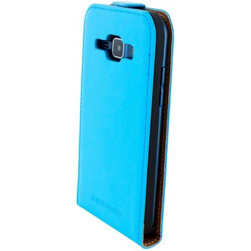 Mobiparts Premium Flip Case Light Blue Samsung Galaxy J1