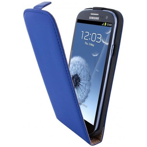 Productafbeelding van de Mobiparts Premium Flip Case Blue Samsung Galaxy S3 (Neo)