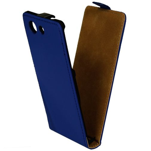 Productafbeelding van de Mobiparts Premium Flip Case Blue Sony Xperia Z3 Compact