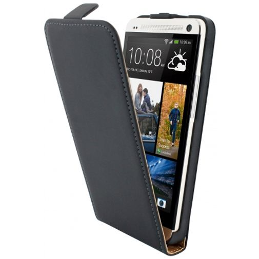 Mobiparts Premium Flip Case HTC One Black