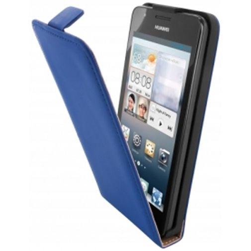 Productafbeelding van de Mobiparts Premium Flip Case Huawei Ascend G510 Blue