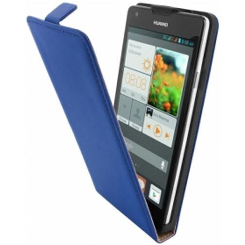 Mobiparts Premium Flip Case Huawei Ascend G700 Blue