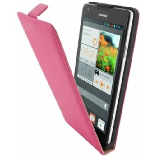 Mobiparts Premium Flip Case Huawei Ascend G700 Pink