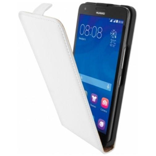 Mobiparts Premium Flip Case Huawei Ascend G750 White