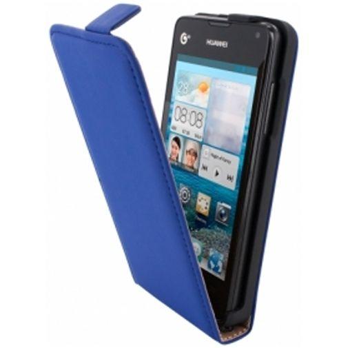 Mobiparts Premium Flip Case Huawei Ascend Y300 Blue