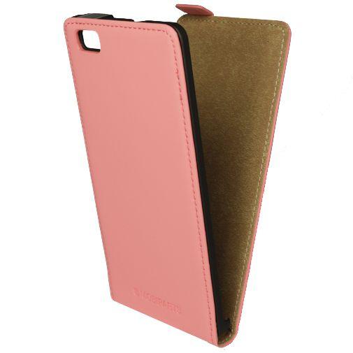 Mobiparts Premium Flip Case Peach Pink Huawei P8 Lite