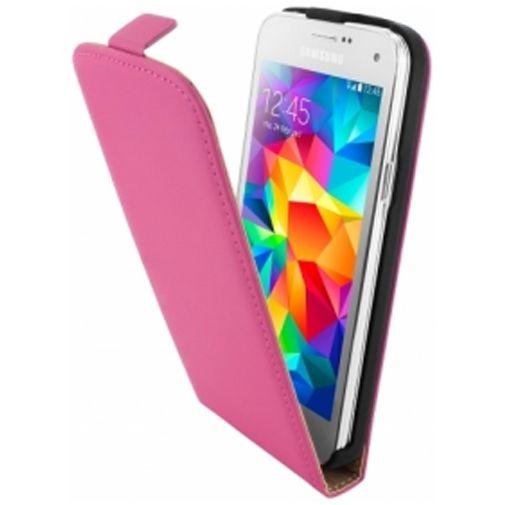 Mobiparts Premium Flip Case Pink Samsung Galaxy S5 Mini