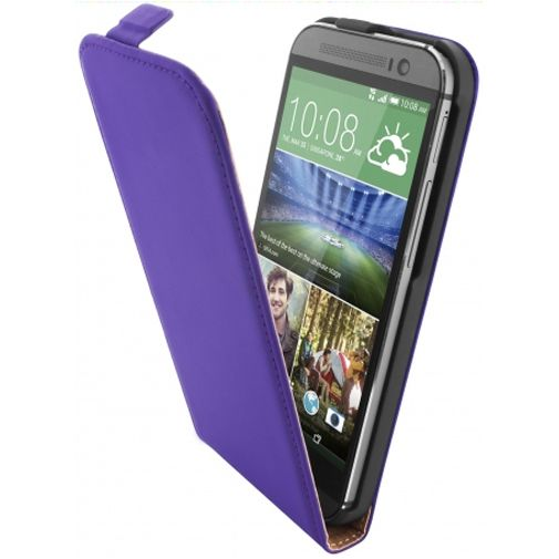 Mobiparts Premium Flip Case Purple HTC One M8