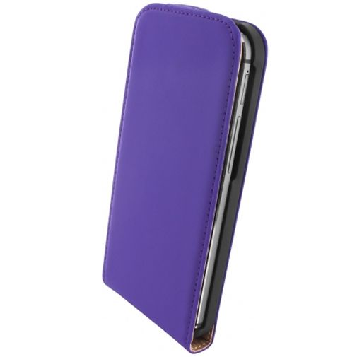 Mobiparts Premium Flip Case Purple HTC One M8