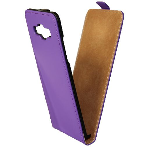 Mobiparts Premium Flip Case Purple Samsung Galaxy A5