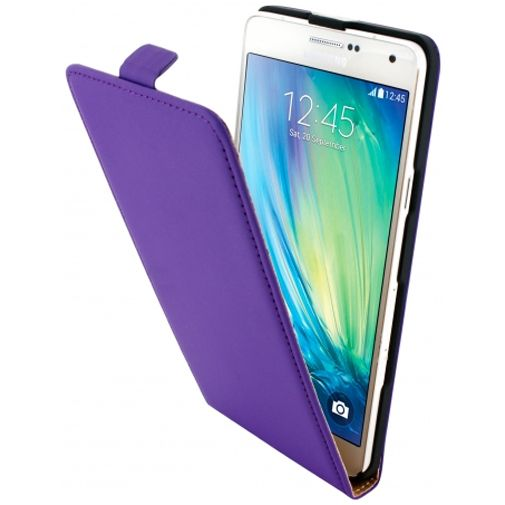 Mobiparts Premium Flip Case Purple Samsung Galaxy A7