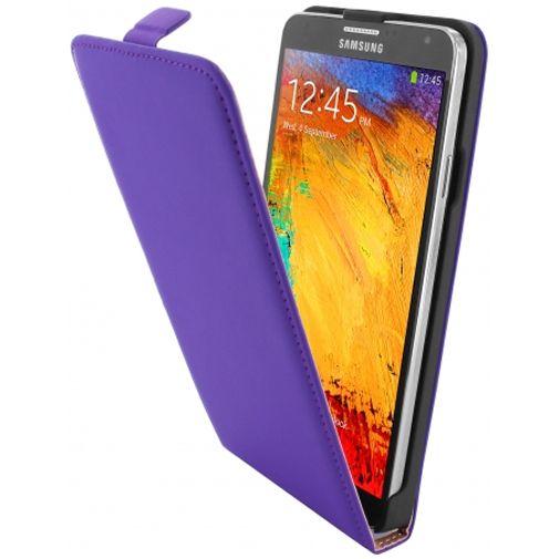 Mobiparts Premium Flip Case Purple Samsung Galaxy Note 3