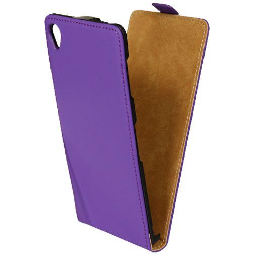 Mobiparts Premium Flip Case Purple Sony Xperia Z3