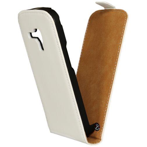 Mobiparts Premium Flip Case Samsung Galaxy S Duos/Trend (Plus) White