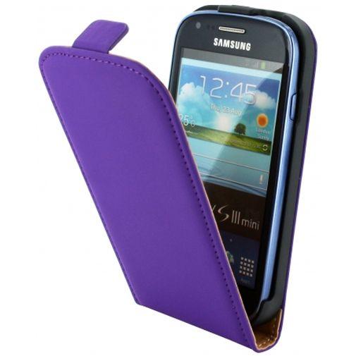 Productafbeelding van de Mobiparts Premium Flip Case Samsung Galaxy S3 Mini (VE) Purple