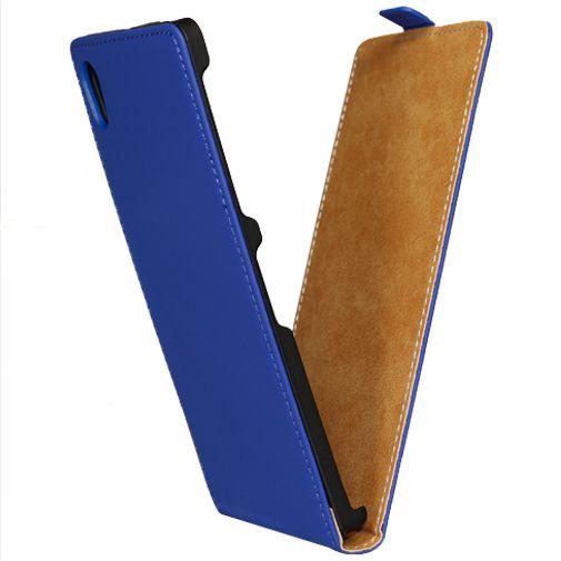 Mobiparts Premium Flip Case Sony Xperia Z1 Blue