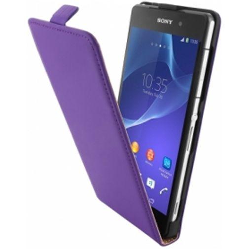 Mobiparts Premium Flip Case Sony Xperia Z2 Purple