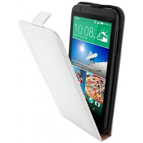 Mobiparts Premium Flip Case White HTC Desire 510
