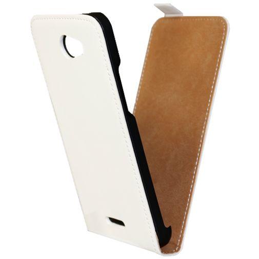 Mobiparts Premium Flip Case White HTC Desire 516