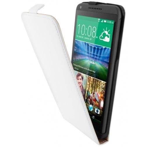 Mobiparts Premium Flip Case White HTC Desire 816