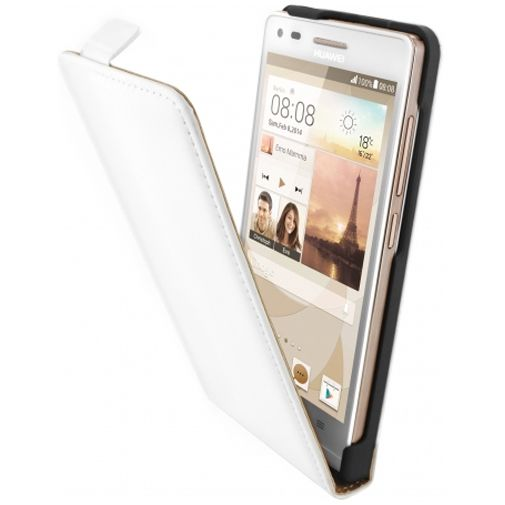 Mobiparts Premium Flip Case White Huawei Ascend G6 4G