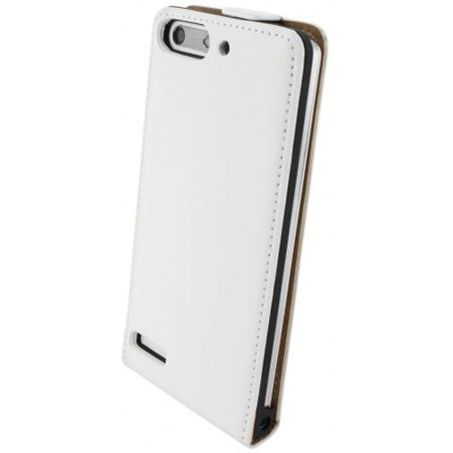 Mobiparts Premium Flip Case White Huawei Ascend G6