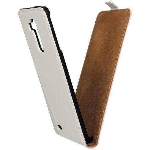 Mobiparts Premium Flip Case White Huawei Ascend Mate 7