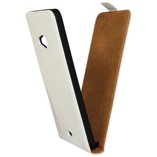 Mobiparts Premium Flip Case White Microsoft Lumia 535