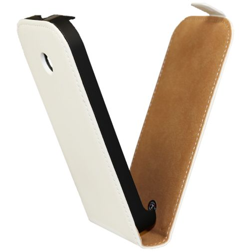 Mobiparts Premium Flip Case White Motorola Moto E