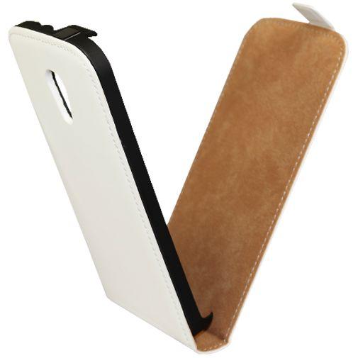 Mobiparts Premium Flip Case White Motorola New Moto G