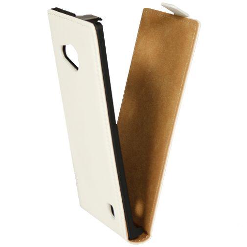 Mobiparts Premium Flip Case White Nokia Lumia 735