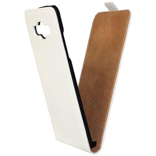 Mobiparts Premium Flip Case White Samsung Galaxy A5