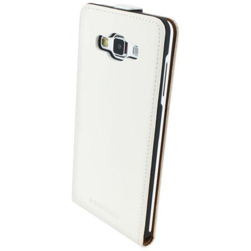 Mobiparts Premium Flip Case White Samsung Galaxy A7