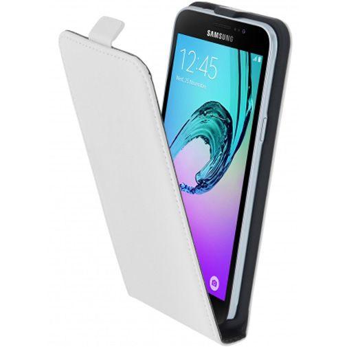 Mobiparts Premium Flip Case White Samsung Galaxy J3 (2016)